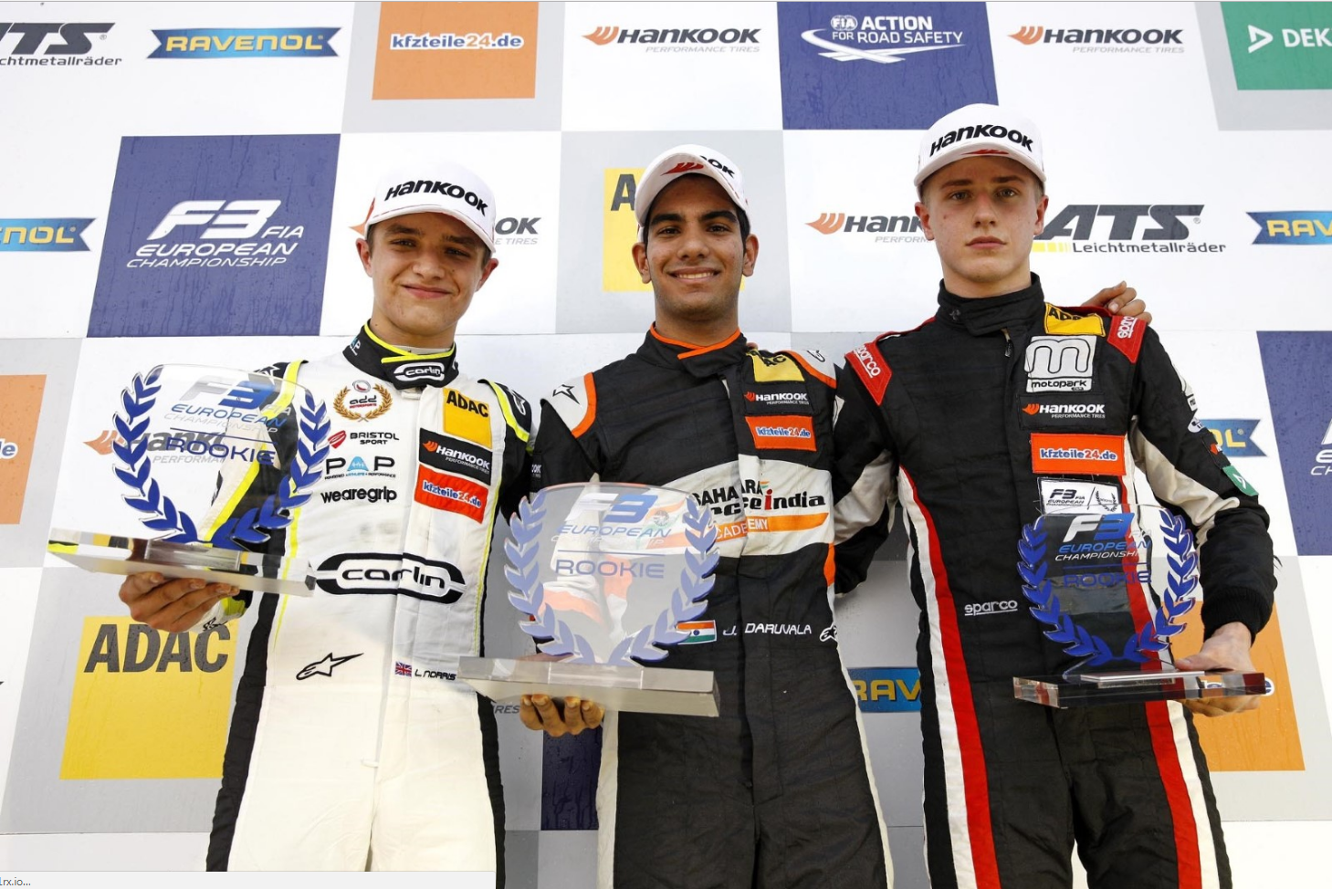 During his F3 debut Jüri Vips got on the podium in the newcomers ranking